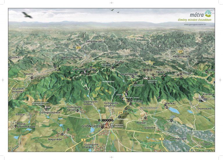 Gyöngyös Mátra 3D térkép